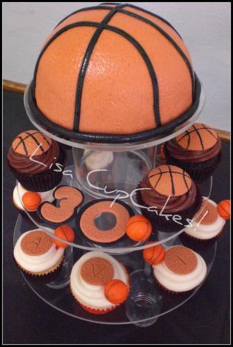 Basketball cake & cupcakes