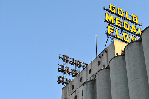 Gold Medal Mill Sign