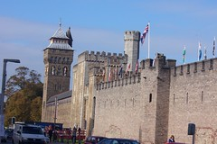 CARDIFF CASTLE (joemor2) Tags: travel castle history clock southwales wales cardiff glamorgan historical british fortification