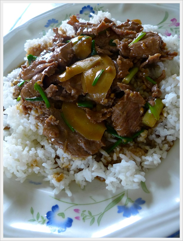 Fried Beef with Spring Onion & Ginger