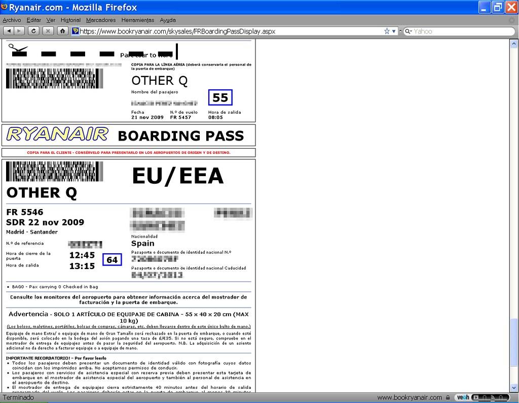 Guía para hacer el Check In Online con Ryanair. | Info Parayas