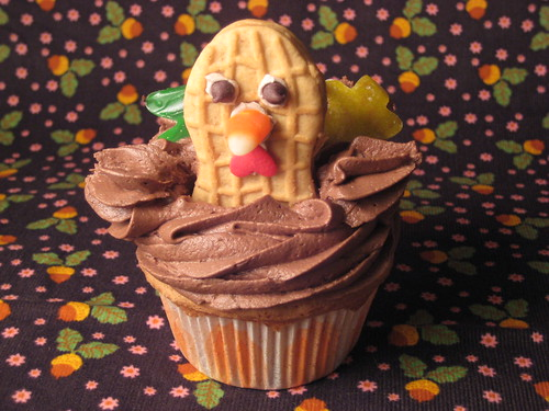 Turkey cupcake tutorial