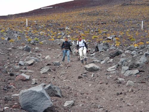 Descenso del Fuji por el Gotemba Trail