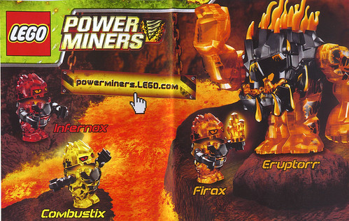 LEGO 2010 Power Miners - Minifigs