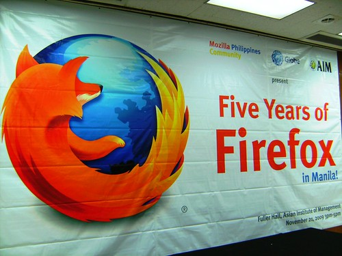 Five Years of Firefox in Manila backdrop