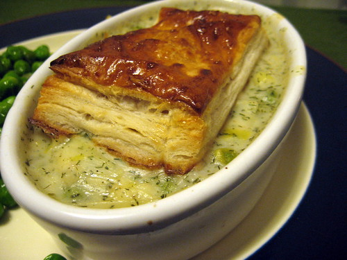 SALMON AND LEEK POT PIE