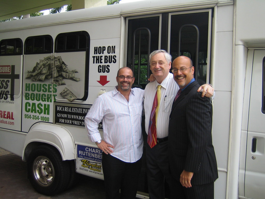 Lex Levinrad, Ron Le Grand and David Dweck with the Foreclosure Express Bus