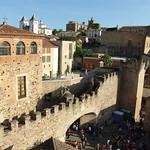 Cáceres: alzado oeste desde bujaco