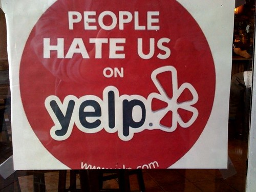 Image: People Hate Us on Yelp - Review Filter Maybe?