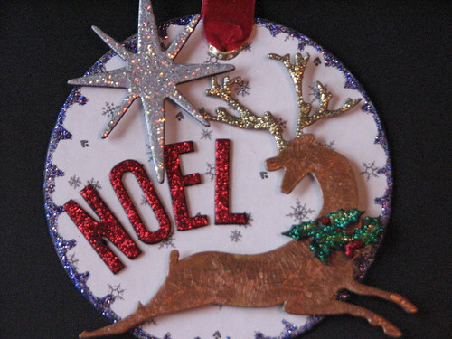 #4 - Chipboard & Grunge Board Ornament 002