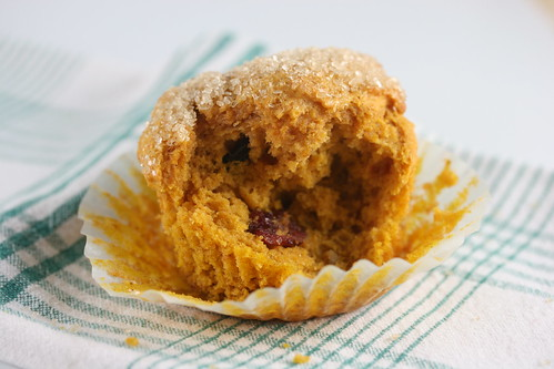 Pumpkin Cranberry Walnut Muffins