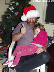 Santa Claus and Sleepy Girl