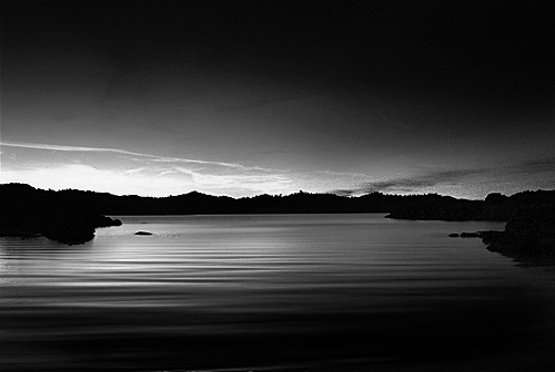 Millerton lake sunrise bw