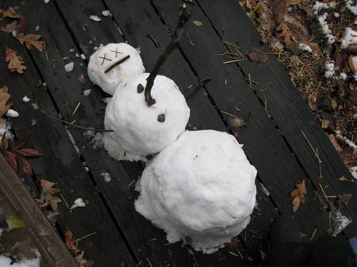 Calvinized snowman