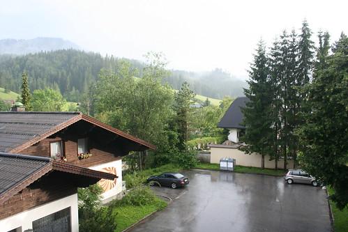Regnen holder op