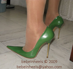 Santa cruz green heels (bebeinheels) Tags: high bdsm pump heels stocking dangling pinstripe dominant tapping heelsjob