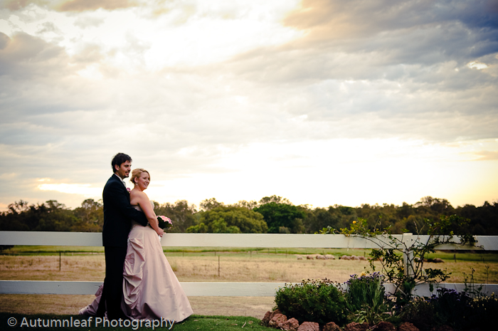 Prue & Paul's Wedding - Sunset at Rosehill Estate (by Autumnleaf Photography)