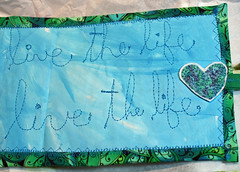 """Live the Life"" binder cover close-up"