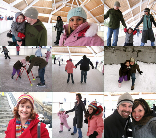 ice skating collage