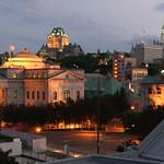 Québec: Le Vieux-Québec, vu du Vieux-Port