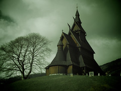 Wooden Viking Stave Church (moggsterb) Tags: wood old tree church graveyard norway dark wooden scary ancient dragon cloudy sinister vik norwegian viking tombstones stave dragonhead norwegianwood worx churchonahill hopperstadstavechurch vikyri hopperstadstavkyrkje mygearandme mygearandmepremium mygearandmebronze mygearandmesilver mygearandmegold mygearandmeplatinum creativephotocafe
