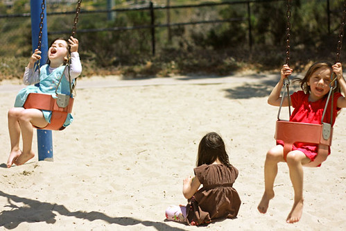 Two Swings for Three Girls