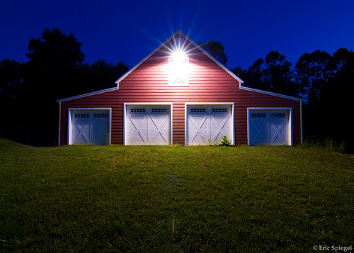 5800869667 a70227c260 A Red Barn: Mid Day vs Blue Hour