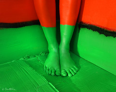 Your Hard Little Feet (Ben Heine) Tags: life red sky woman abstract green art feet colors lines silhouette composition project pose painting naked photography foot still model colorful paint peace christ candy belgium nu sweet outdoor body mixedmedia stripes magic femme report curves perspective creative shapes documentary peaceful wideangle peinture illusion corps impact layer series alive splash pieds making bonbon couleur acrylicpainting bandes patience vie paix magie fetishism passionate immobile fetishist kleur standout benheine woodenpanel braives samsungimaging nx11 carolinemadison fleshandacrylic fairytaleheart chairetacrylique