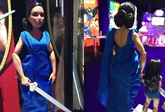 Toy Fair 2017: WW Blue Dress (Still Museum) Tags: wonder woman barbie doll mattel diana tfny toy fair 2017