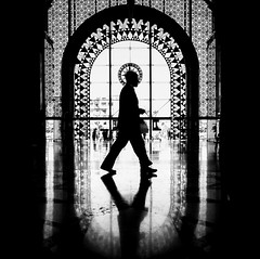 (Magdalena Roeseler) Tags: silhouette walk bw blackandwhite candid art geometry lines olympus zuiko12mm marrakech