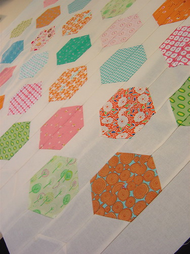 Hexagons close up