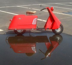 Allstate reflected (Howard33) Tags: red reflection sears scooter reflected motor lowes allstate cushman speedwayccoa