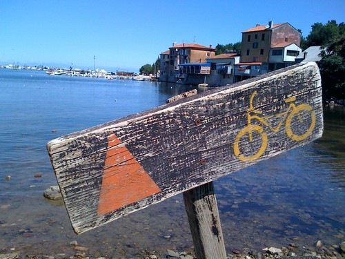 Istrian bike sign