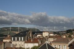 Millau 18-07-09-8619 (sweenpole2001) Tags: bridge cloud holiday france rooftops viaduct hills millau
