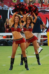 Tampa Bay Buccaneers Cheerleaders (Vanessa Guzan) Tags: red camp field training tampa bay football nikon cheerleaders tampabay florida flag nfl helmet august run catch practice jerseys cheer athletes cheerleader athlete pewter 2009 tackle throw buccaneers nfc trainingcamp raymondjamesstadium bucs tampabaybuccaneers nationalfootballleague d80 americanfootbal nfcsouth vanessaguzan