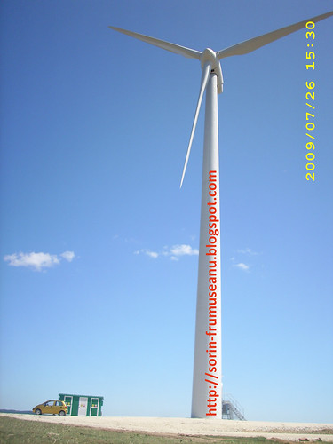 Turbina eoliana langa matiz