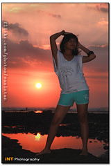 Sunset at mengening... (vanintan) Tags: sunset sexy beach girl potrait pantai seseh mengening