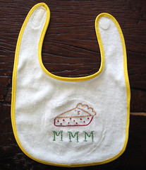 pie bib (francesg29) Tags: baby embroidery crafts stitching imadethis bibs