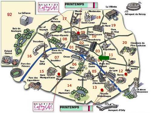 Map France Tourist – Paris France Tourist Attractions Map