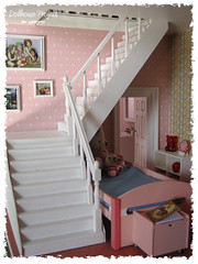 Dollhouse Project # Stairs (Wanitodibelo) Tags: yellow stairs project miniature bedroom rement dollhouse latidoll lati