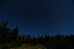 2009 Perseid Meteor Shower in the Colorado Rockies (Fort Photo) Tags: sky lake nature night stars landscape shower star pass reservoir astrophotography cameron moonlight shooting 2009 meteor afterdark astonomy joewright perseid perseids Astrometrydotnet:status=failed Astrometrydotnet:id=alpha20090886750155 poudrecanyonhighway