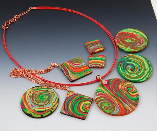 Rainbow Mokume Gane Collection
