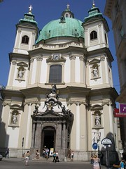 The design of the Baroque Peterskirche was inspired by the St. Peter's Basilica of the Vatican in Rome.