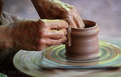 The Potter and The Clay (Tyler McCall) Tags: wheel crafts fair clay pottery sterlingrenaissancefestival canonrebelxs canonefs55250mmf456is canoneos1000d tylermccall