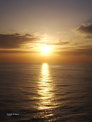 Sunset at sea 2 (C Longman) Tags: ocean cruise sunset sea sun water clouds scenery waves ripple