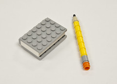 Lego store September build-Pencil and Notebook