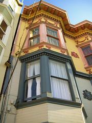 Ahh, Neighbors (eviloars) Tags: sanfrancisco windows building colors bay paint different exterior apartment mission job missionpw090109