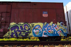 Skate All Cities (TRUE 2 DEATH) Tags: california railroad streetart art train graffiti ic al tag graf sac gash trains railcar unionpacific spraypaint boxcar railways railfan freight ricks flatpanel freighttrain rollingstock pelon whistleblower rics chuks benching freighttraingraffiti skateallcities