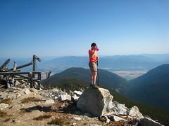 Allison on the summit of Parker Peak, Selkirk Mountains, North Idaho.
