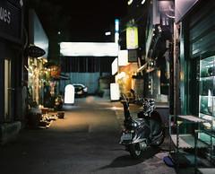 :^z (june1777) Tags: street light night alley fuji pentax snap h f 400 seoul pro 67 insadong 105mm f24 400h pentax67 pro400h